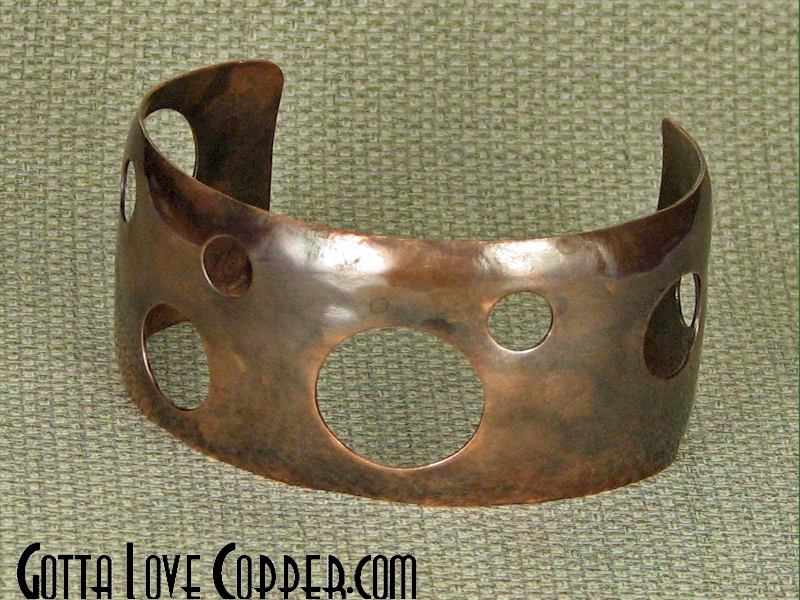 Hole-y Copper Cuff