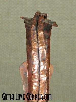 Crazy Folded Copper Cuff