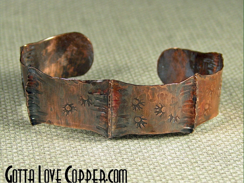 Dainty Folded Copper Cuff