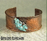 Copper Cuff with Turquoise Nugget