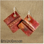 Folded Copper Earrings