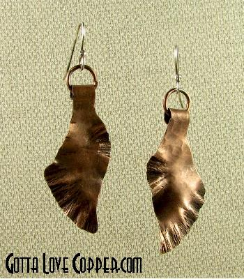 Abstract Leafy Earrings