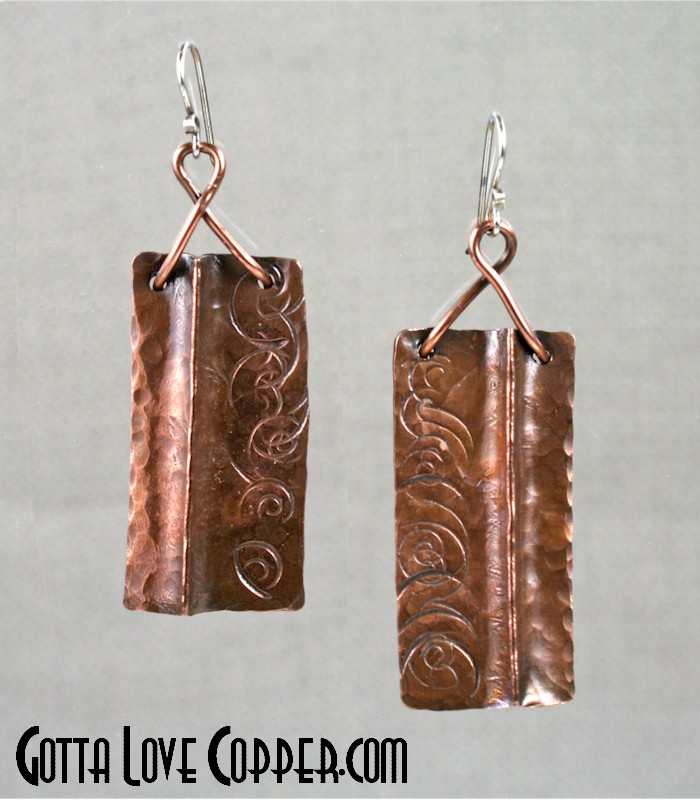Folded Plate Earrings
