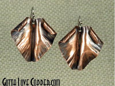Folded Leaf Earrings