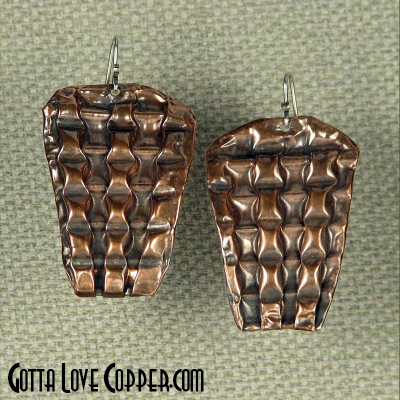 Patterned Shield Earrings