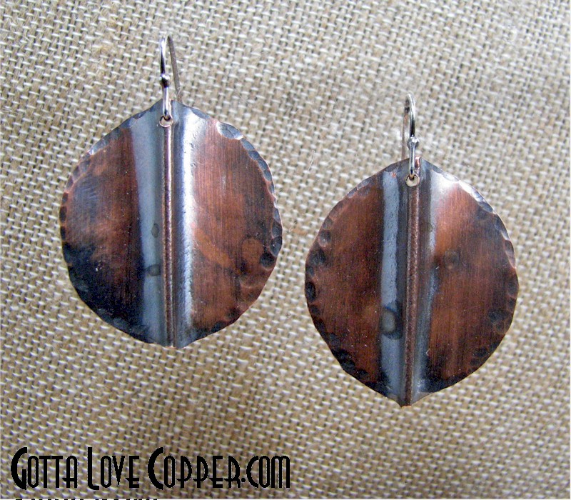 Folded Disk Earrings
