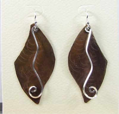 Plate Earrings with Sterling Accents