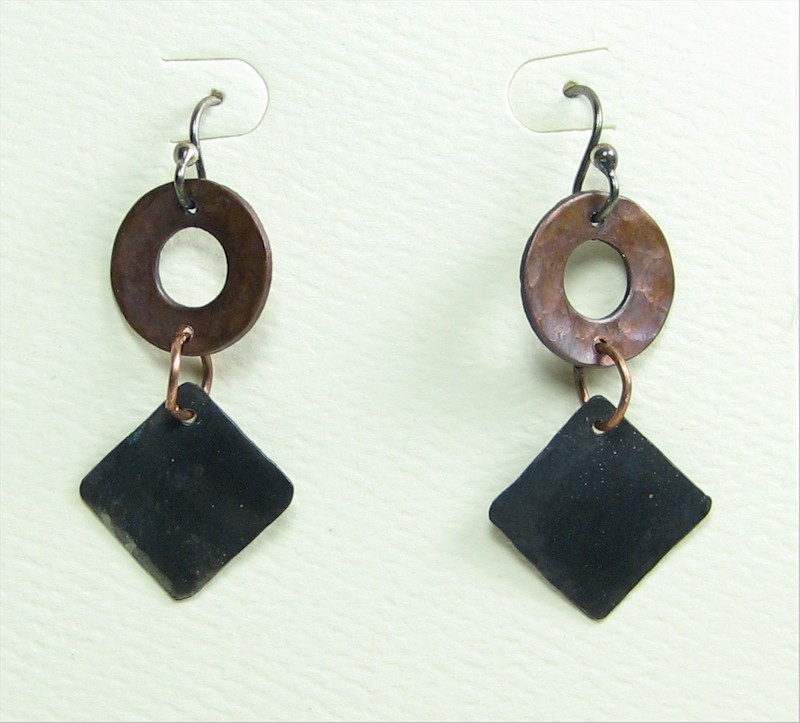 Ring-over-Square Earrings