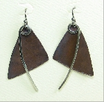 "Copper & Nickel ""Happy Bird"" Earrings"