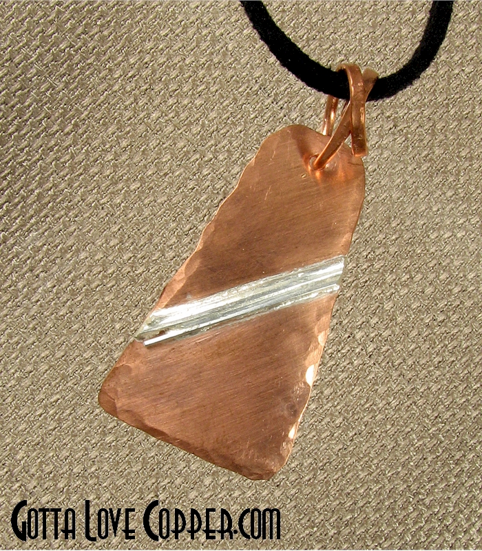 Copper Pendant with Sterling Highlights