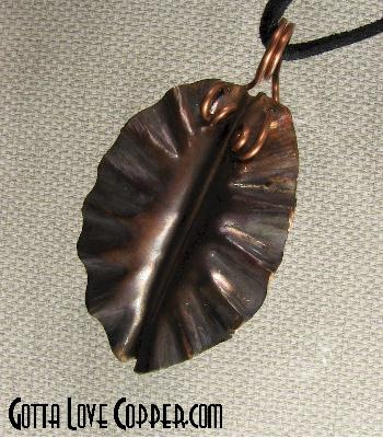 Chokecherry Leaf Pendant