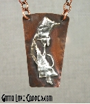 Silver and Copper Pendant