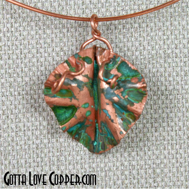 Colored Leaf Pendant