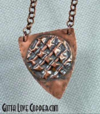 Patterend Shield Pendant
