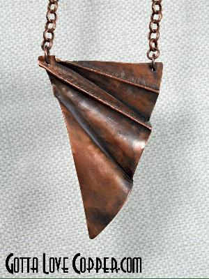 "Folded ""Wing"" Pendant"