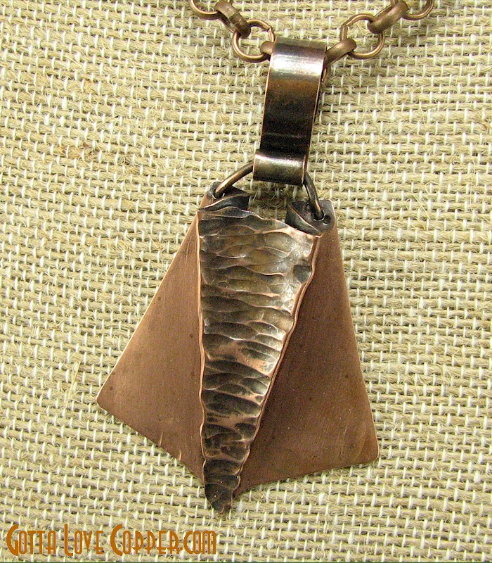 Wedge Pendant with Chain