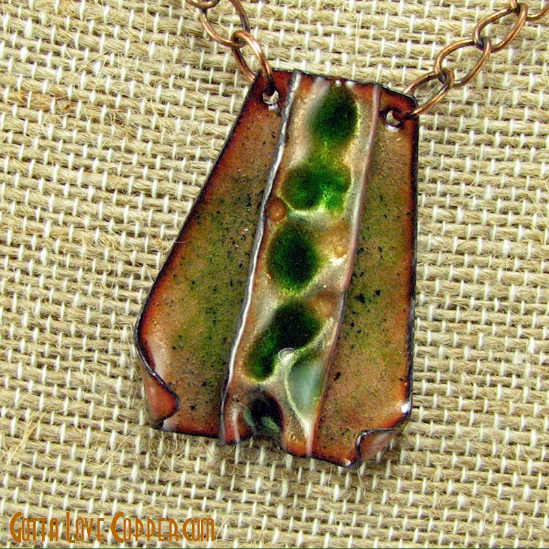 Mini Enameled Wedge Pendant